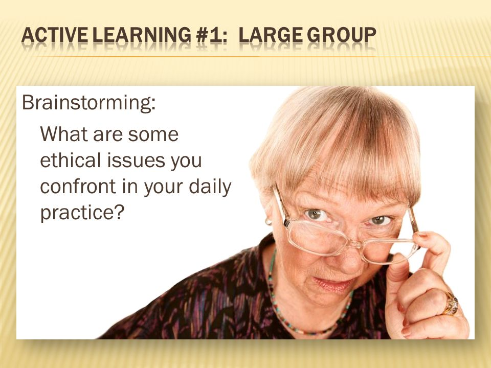 ACTIVE LEARNING #1: Large group