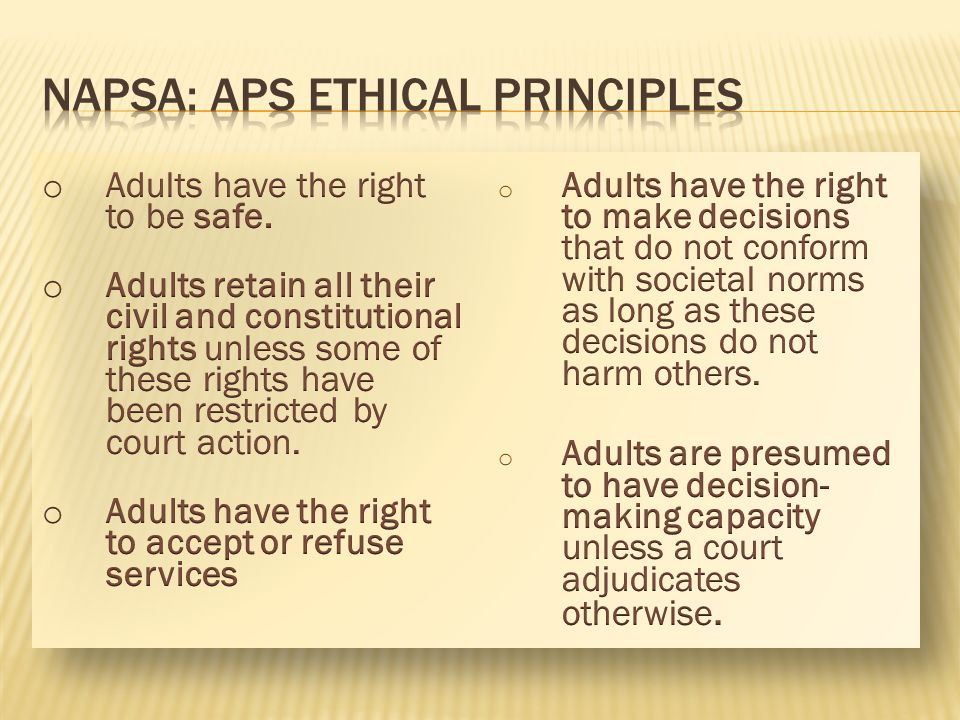 Napsa: aps ethical principles