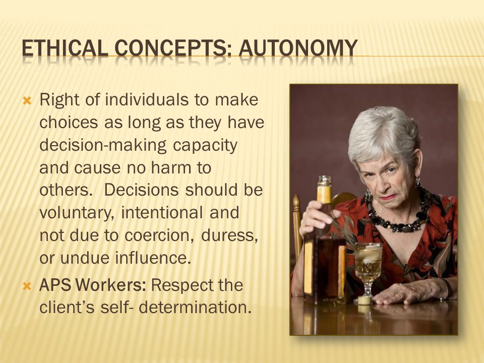 Ethical concepts: Autonomy