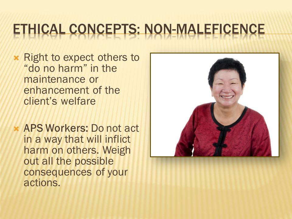 Ethical concepts: Non-maleficence