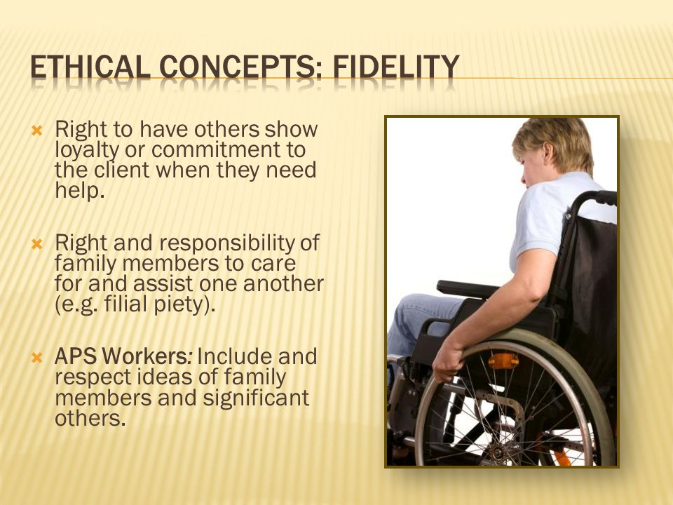Ethical concepts: Fidelity