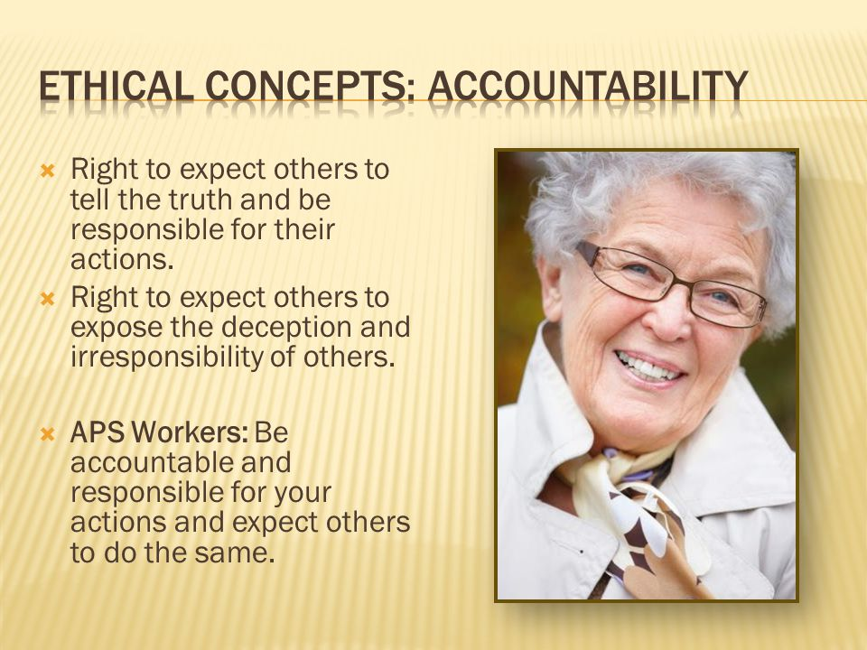 Ethical concepts: Accountability