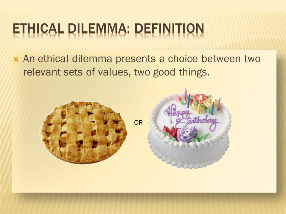 Ethical dilemma: definition