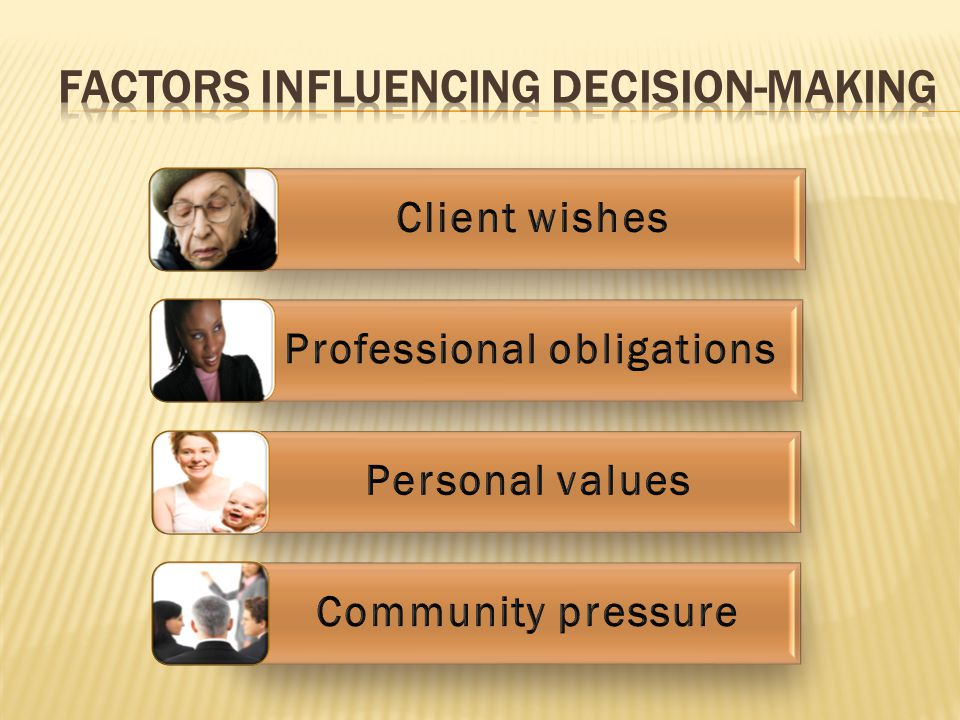 FACTORS INFLUENCING DECISION-MAKING
