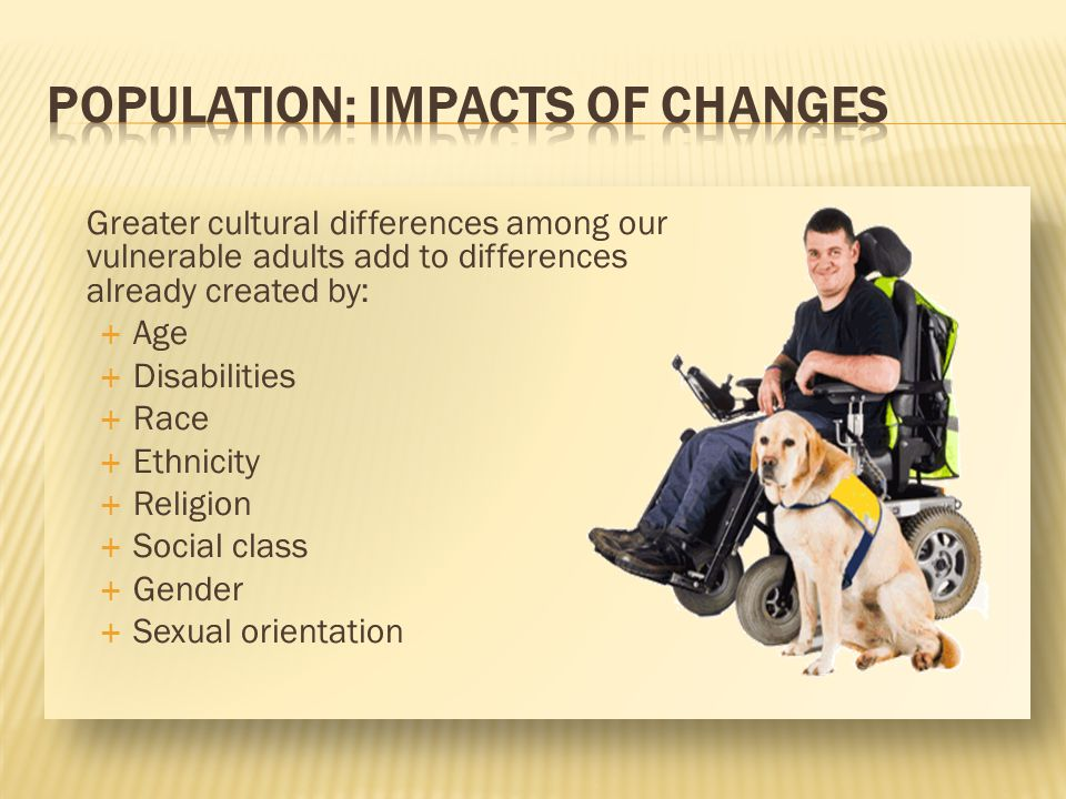 POPULATION: Impacts of Changes