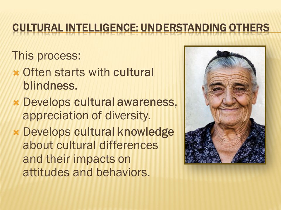 CULTURAL INTELLIGENCE: Understanding Others