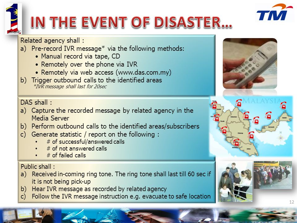 IN THE EVENT OF DISASTER…