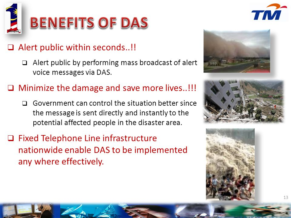 BENEFITS OF DAS Alert public within seconds..!!
