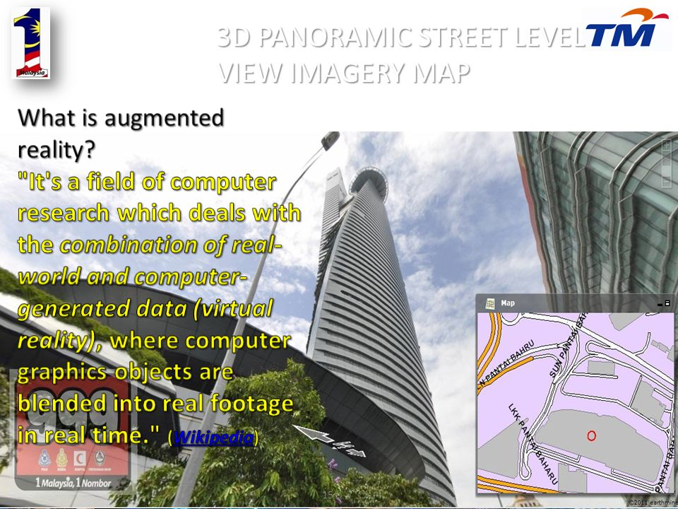 3D PANORAMIC STREET LEVEL VIEW IMAGERY MAP