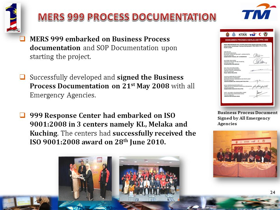 MERS 999 PROCESS DOCUMENTATION