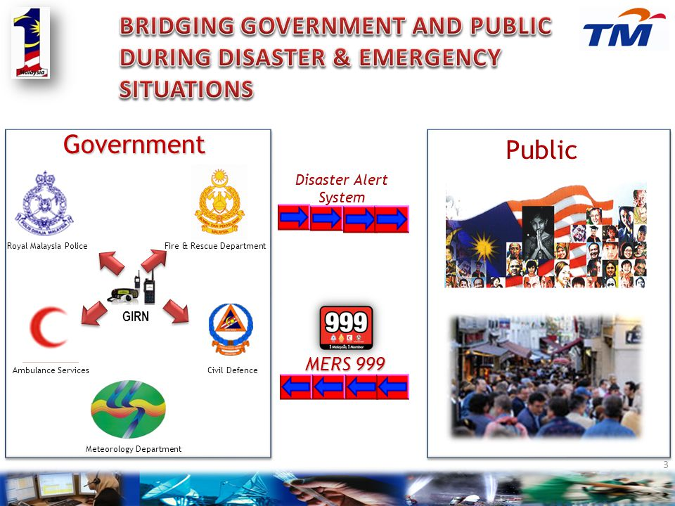 BRIDGING GOVERNMENT AND PUBLIC DURING DISASTER & EMERGENCY SITUATIONS