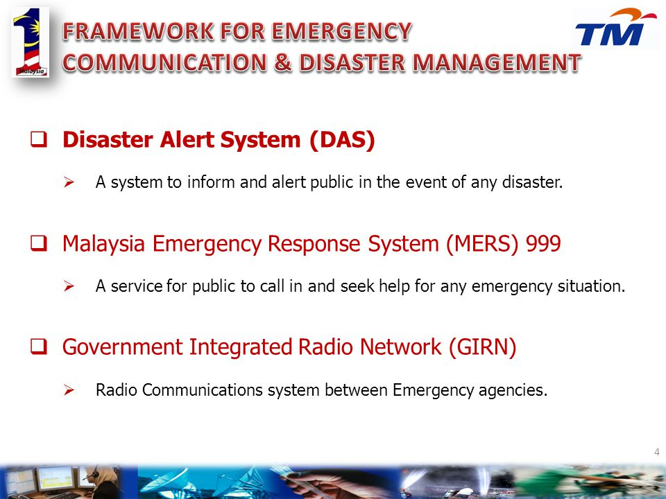 FRAMEWORK FOR EMERGENCY COMMUNICATION & DISASTER MANAGEMENT