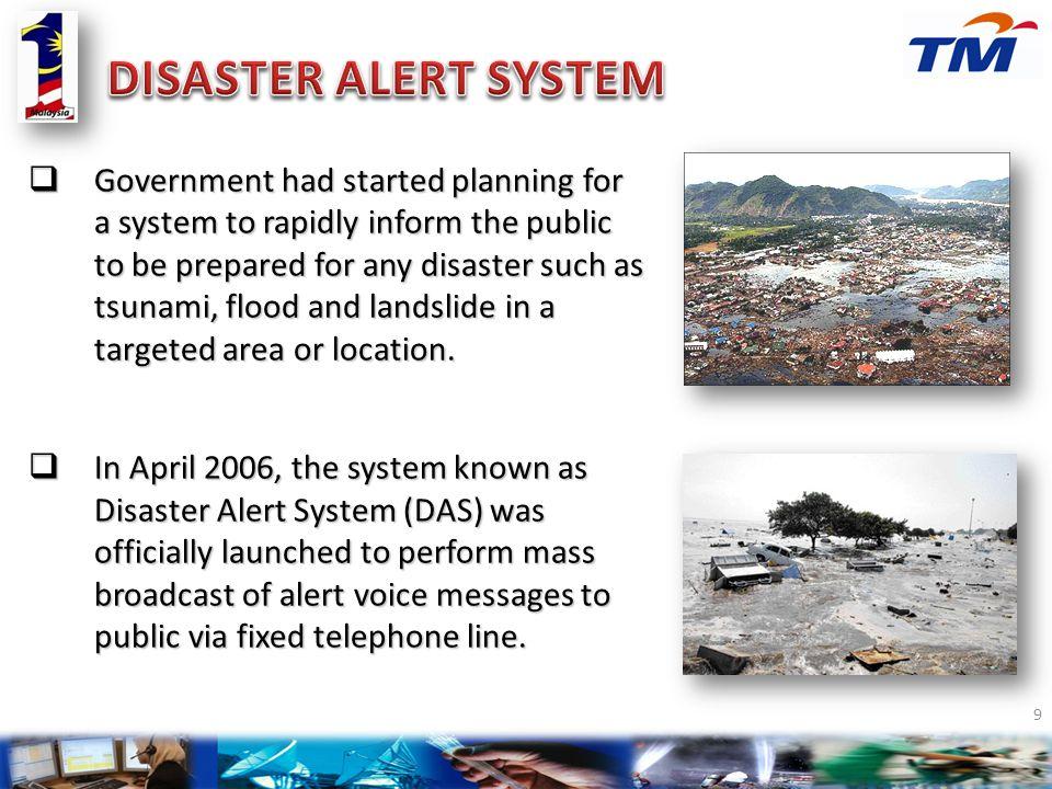 DISASTER ALERT SYSTEM