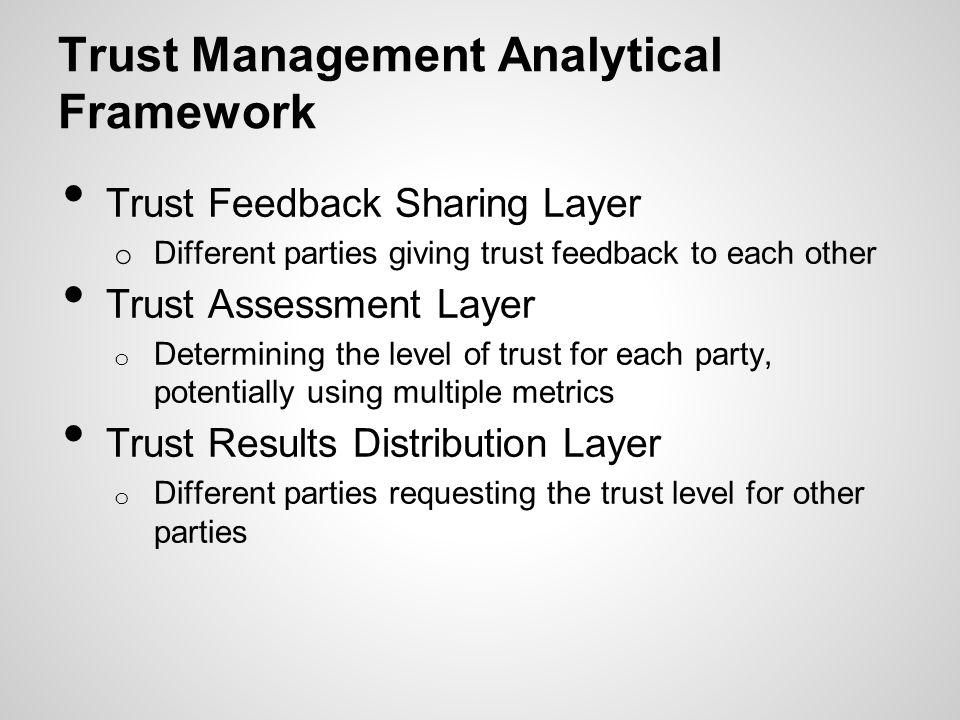 Trust Management Analytical Framework