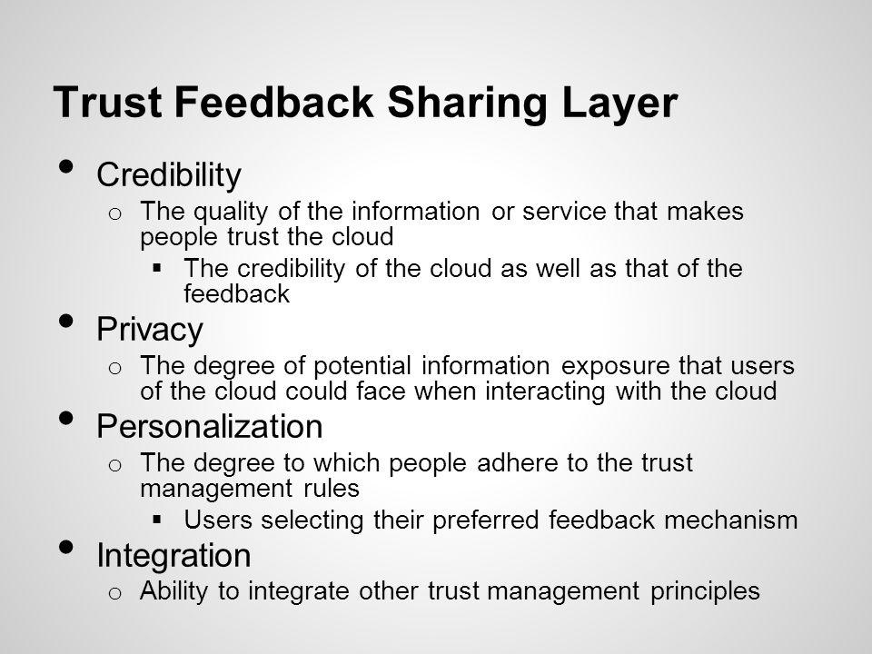 Trust Feedback Sharing Layer