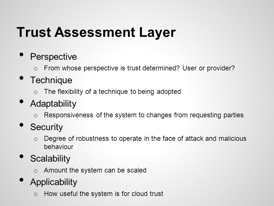 Trust Assessment Layer