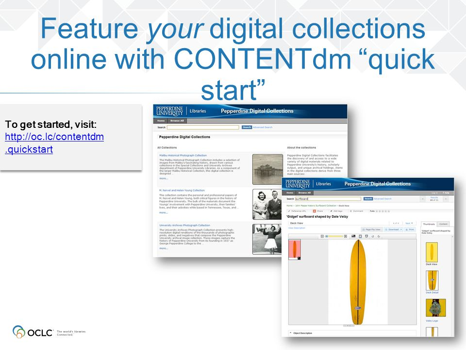 Feature your digital collections online with CONTENTdm quick start