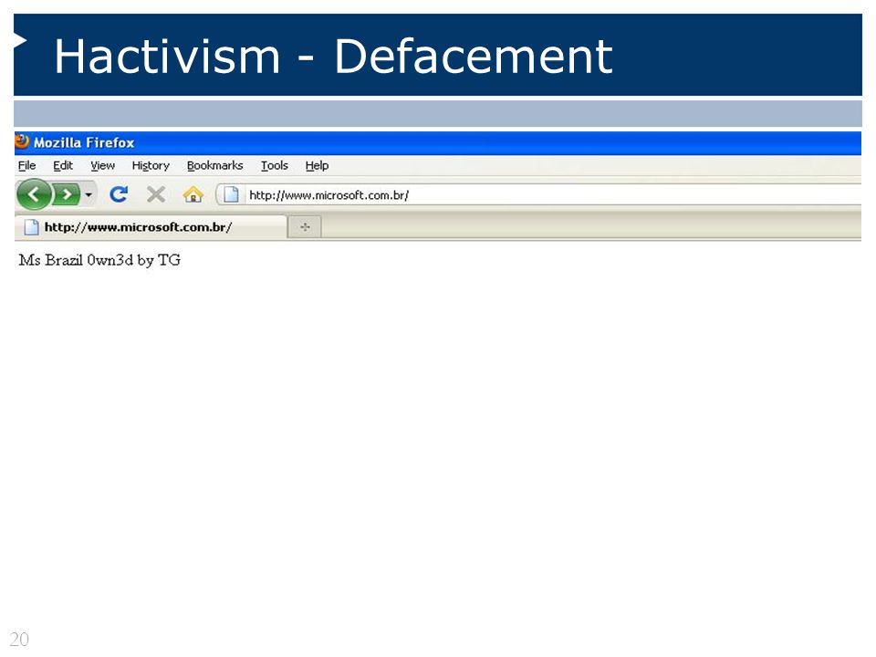 Hactivism - Defacement