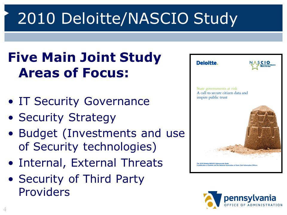 2010 Deloitte/NASCIO Study
