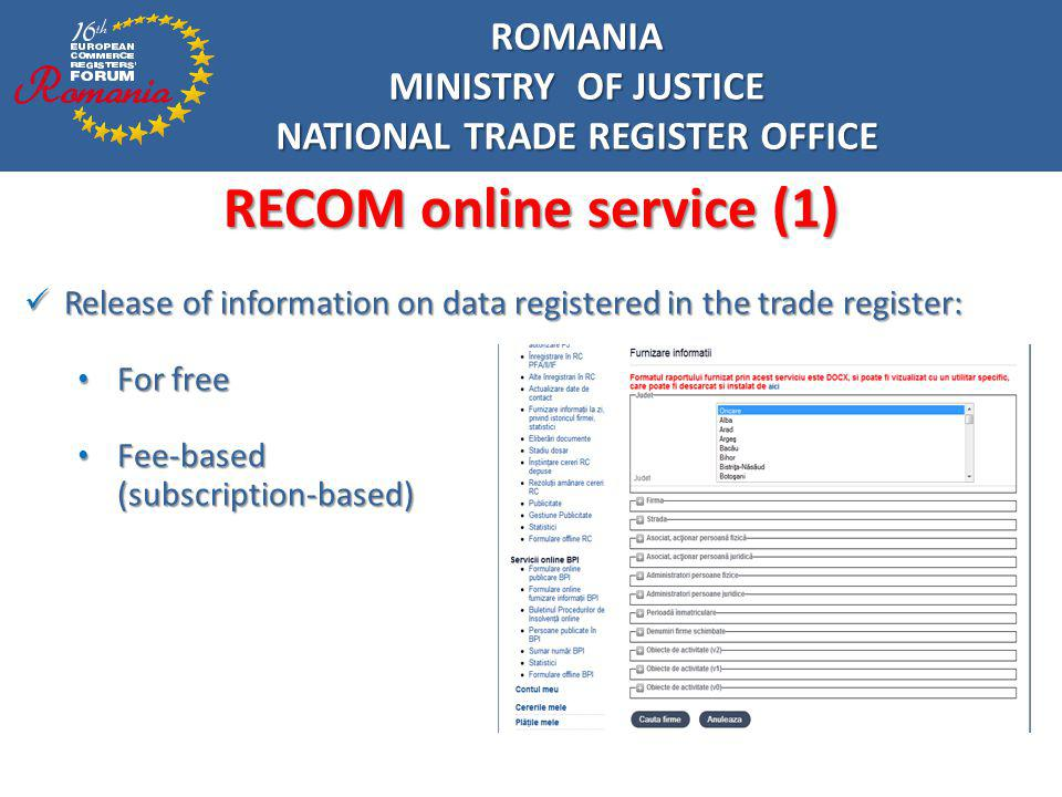 NATIONAL TRADE REGISTER OFFICE RECOM online service (1)