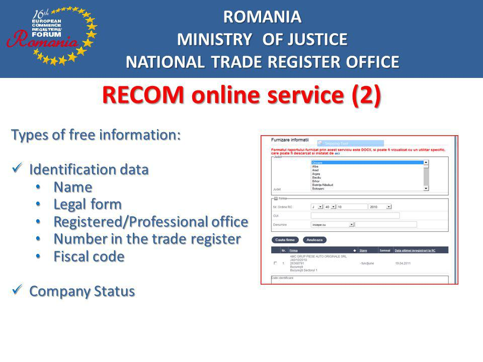 NATIONAL TRADE REGISTER OFFICE RECOM online service (2)