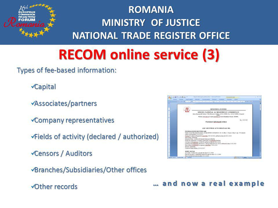 NATIONAL TRADE REGISTER OFFICE RECOM online service (3)