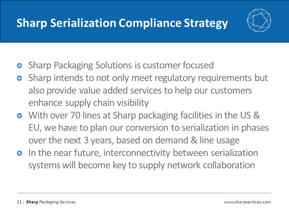 Sharp Serialization Compliance Strategy