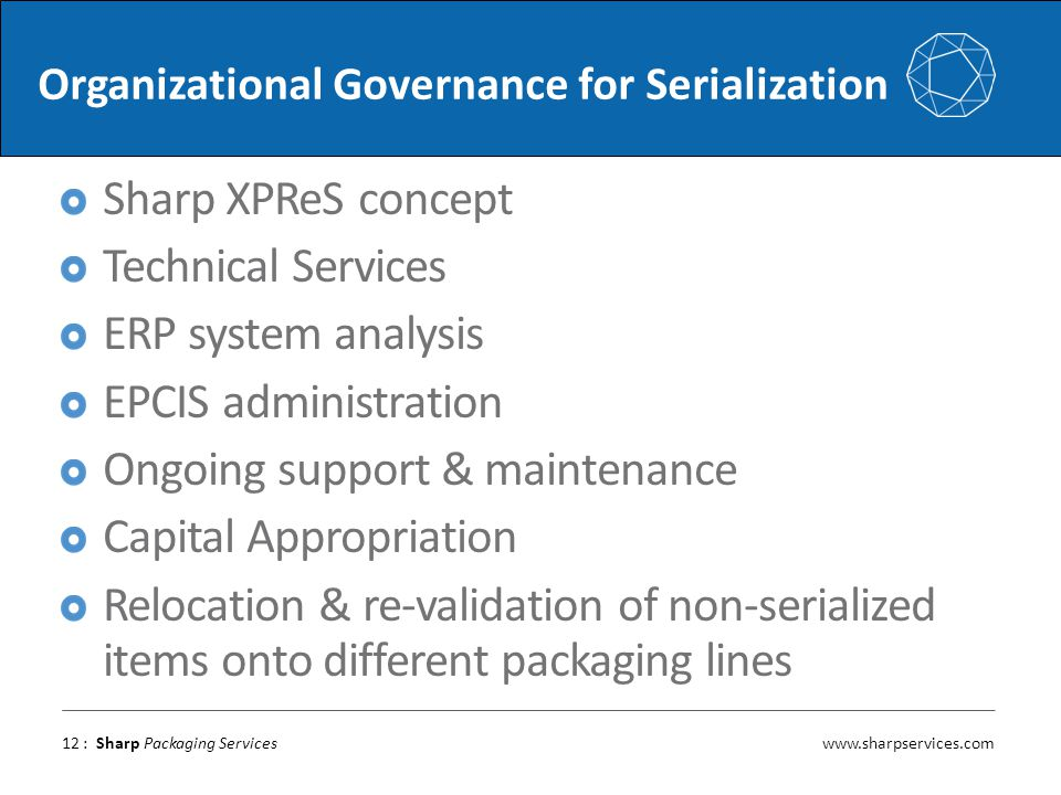 Organizational Governance for Serialization