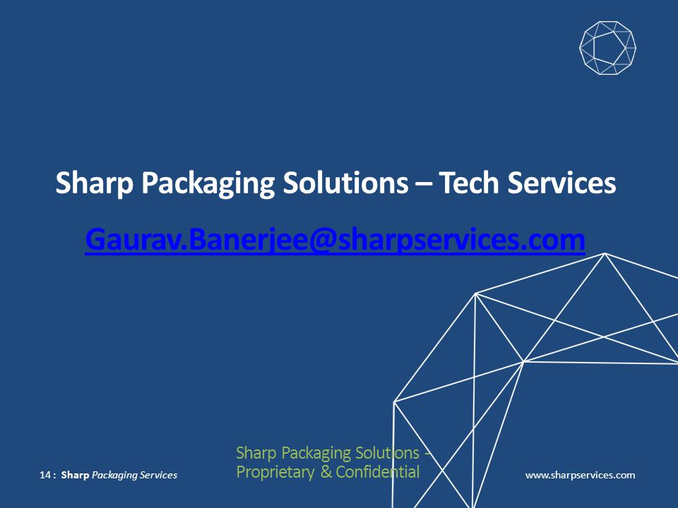 Sharp Packaging Solutions – Tech Services