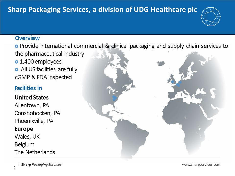 Sharp Packaging Services, a division of UDG Healthcare plc