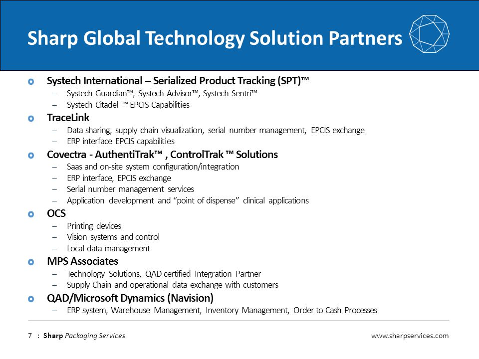 Sharp Global Technology Solution Partners