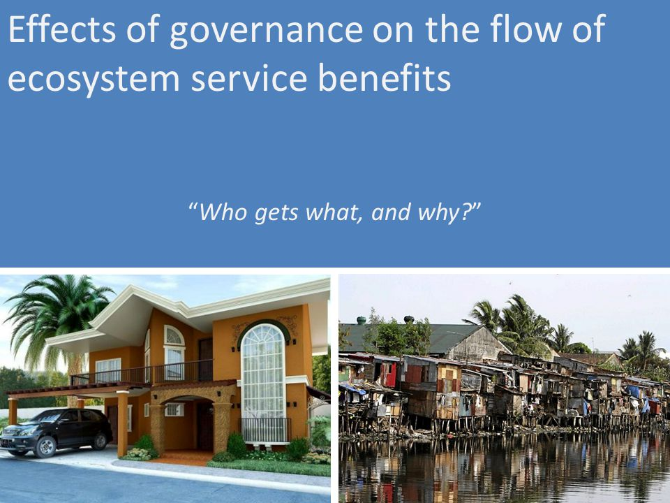 Effects of governance on the flow of ecosystem service benefits