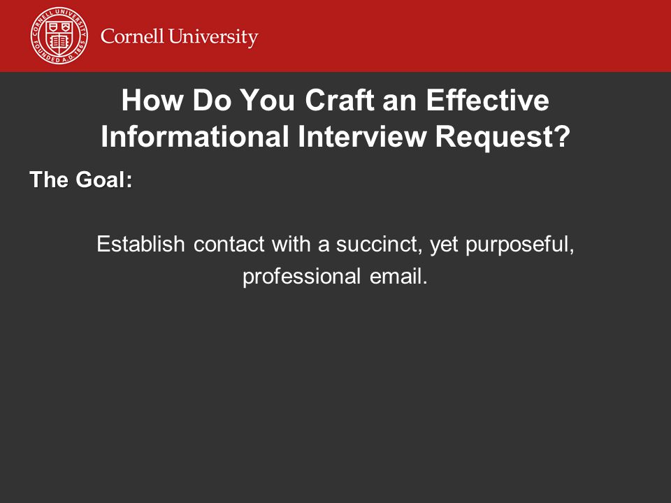 How Do You Craft an Effective Informational Interview Request