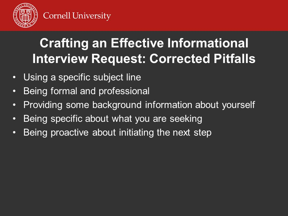 Crafting an Effective Informational Interview Request: Corrected Pitfalls
