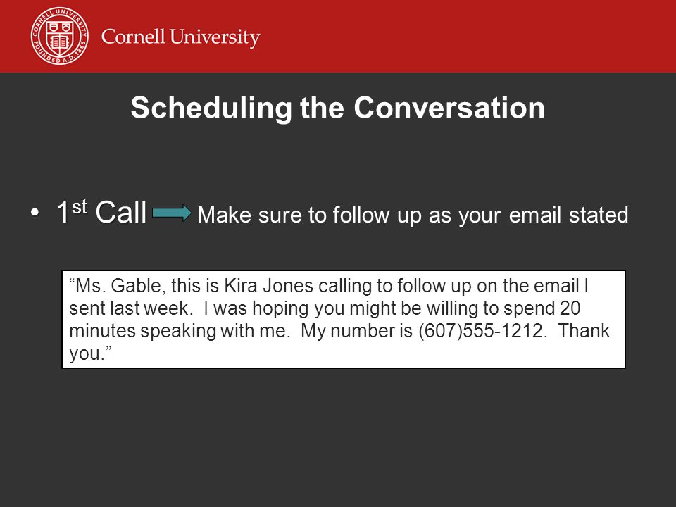 Scheduling the Conversation