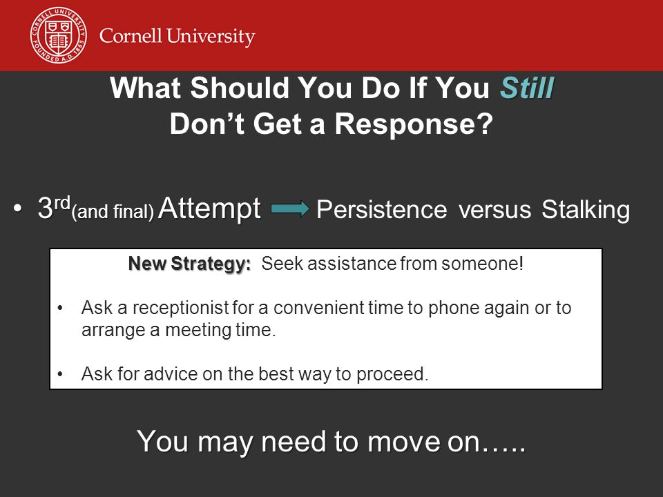 What Should You Do If You Still Don't Get a Response