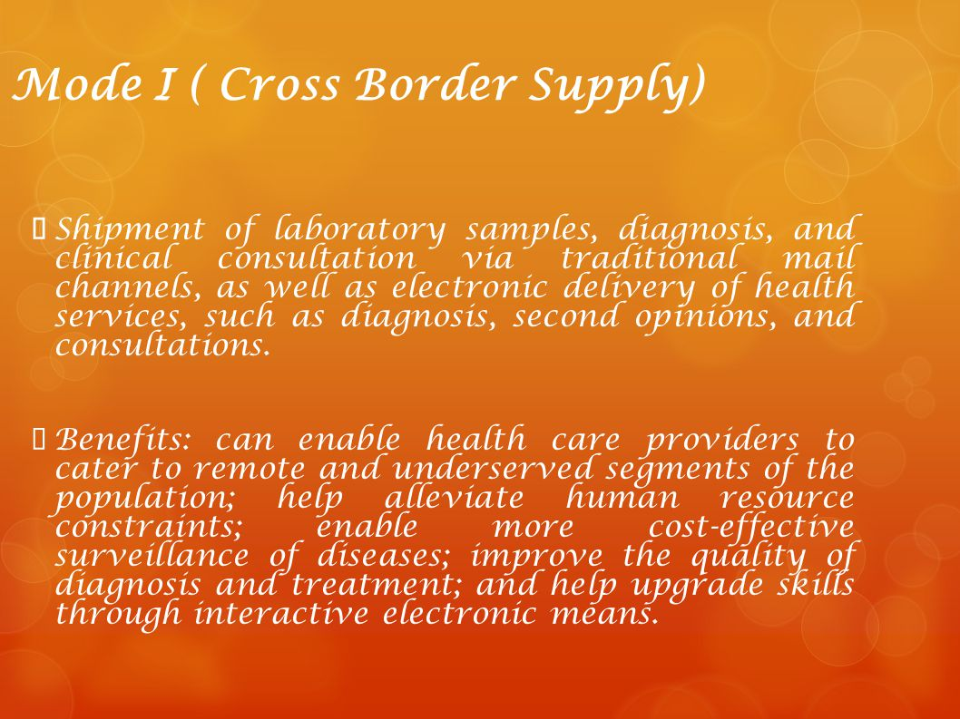 Mode I ( Cross Border Supply)