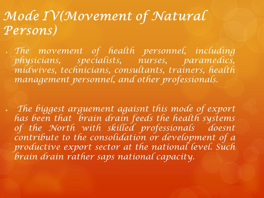 Mode IV(Movement of Natural Persons)