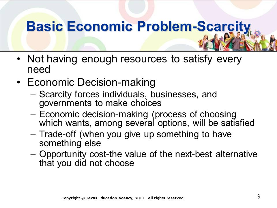 Basic Economic Problem-Scarcity