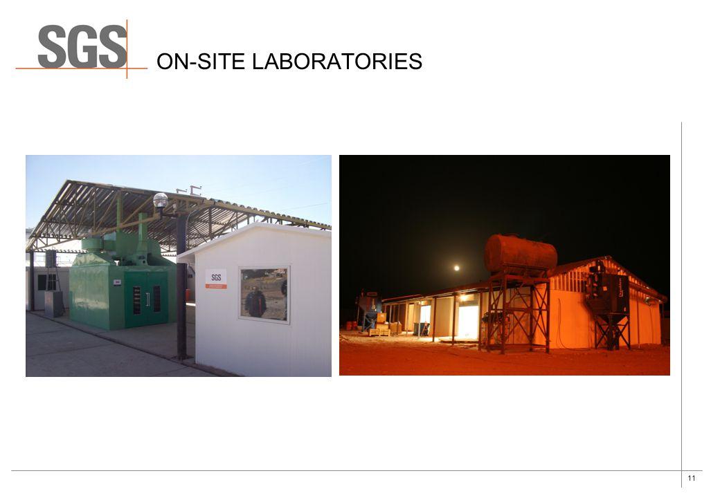On-site laboratories