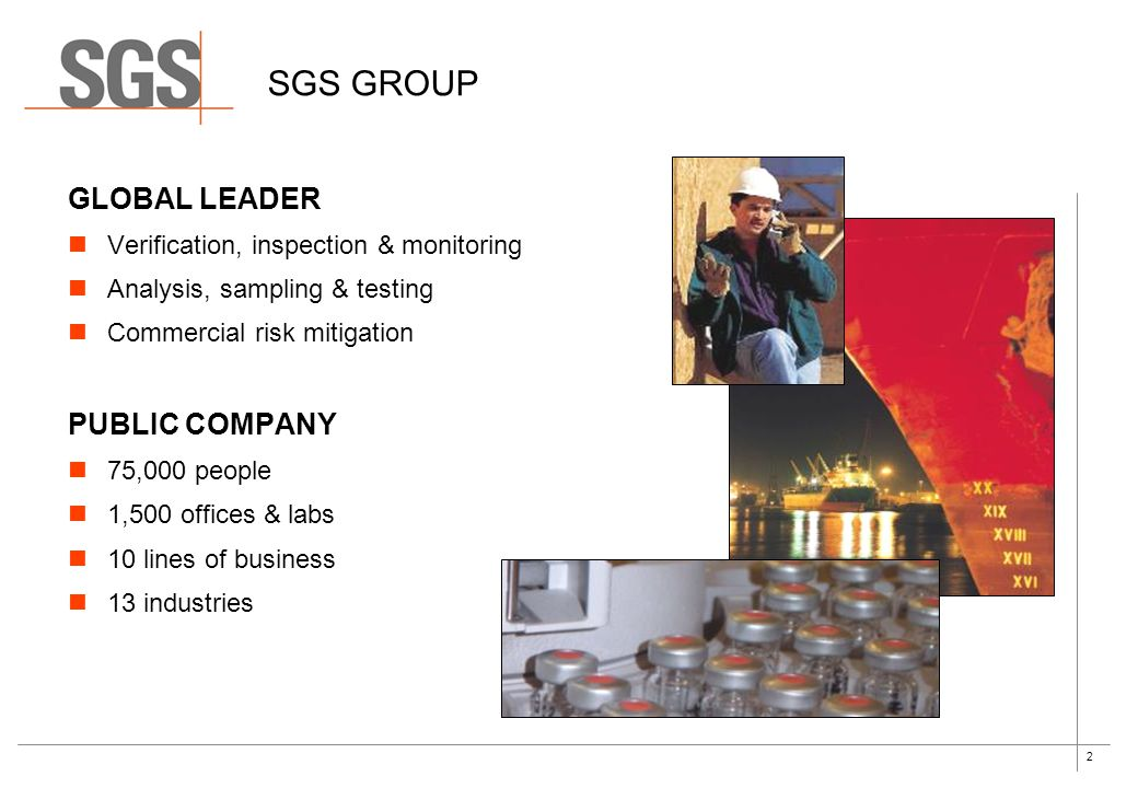 SGS GROUP GLOBAL LEADER PUBLIC COMPANY