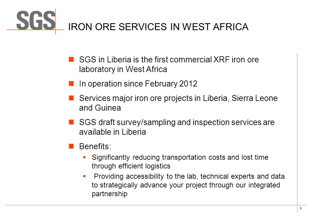 Iron ore services in west africa