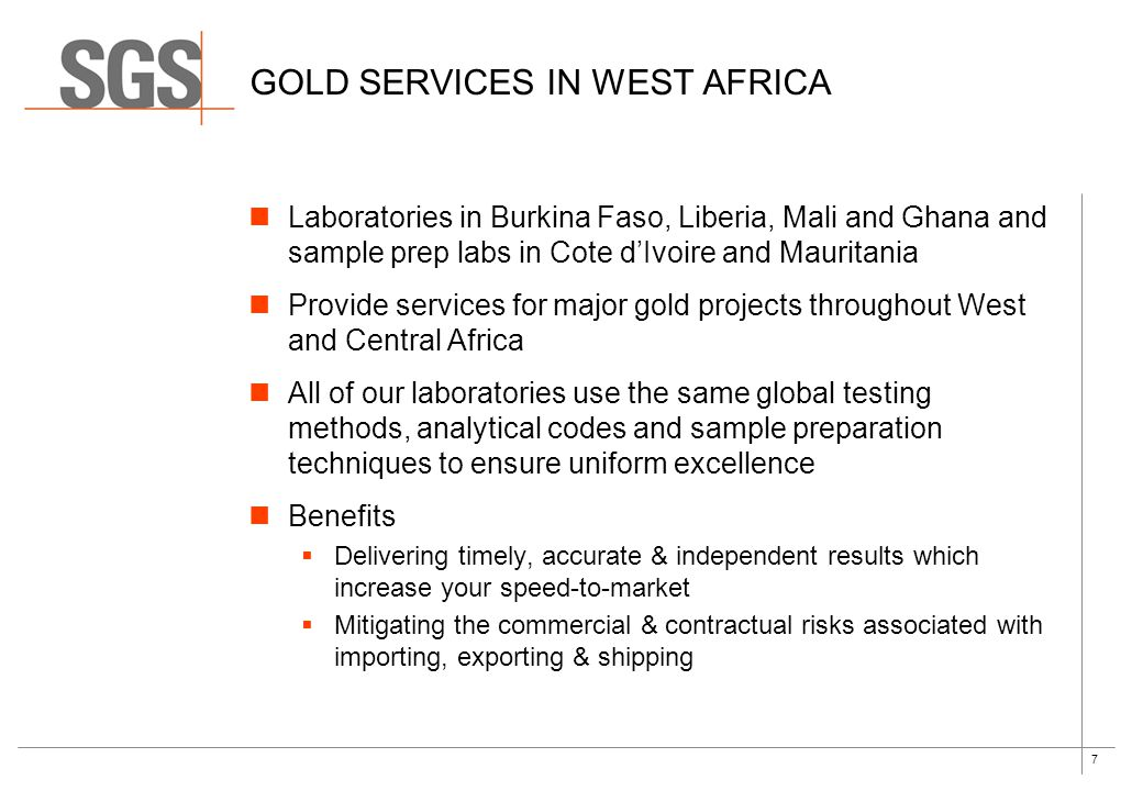 Gold services in West Africa