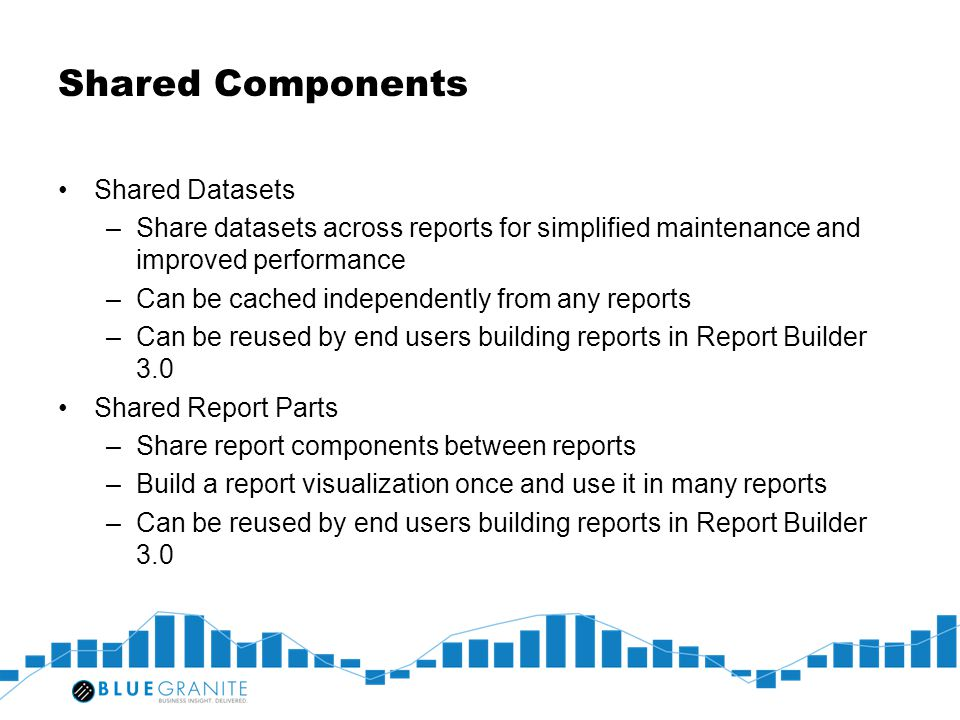 Shared Components Shared Datasets