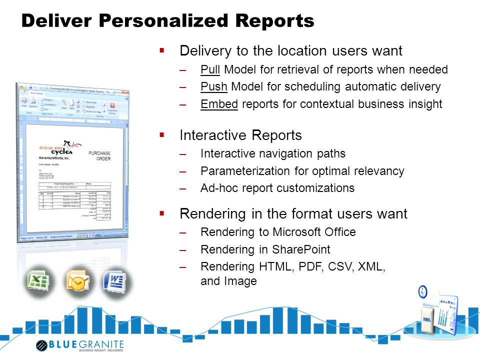 Deliver Personalized Reports