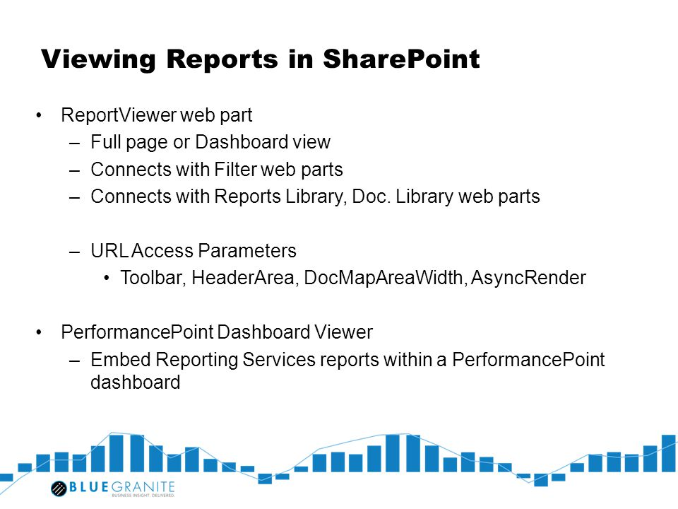 Viewing Reports in SharePoint