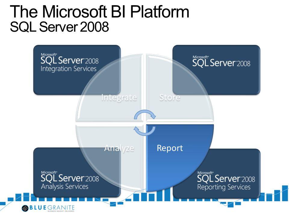 The Microsoft BI Platform SQL Server 2008
