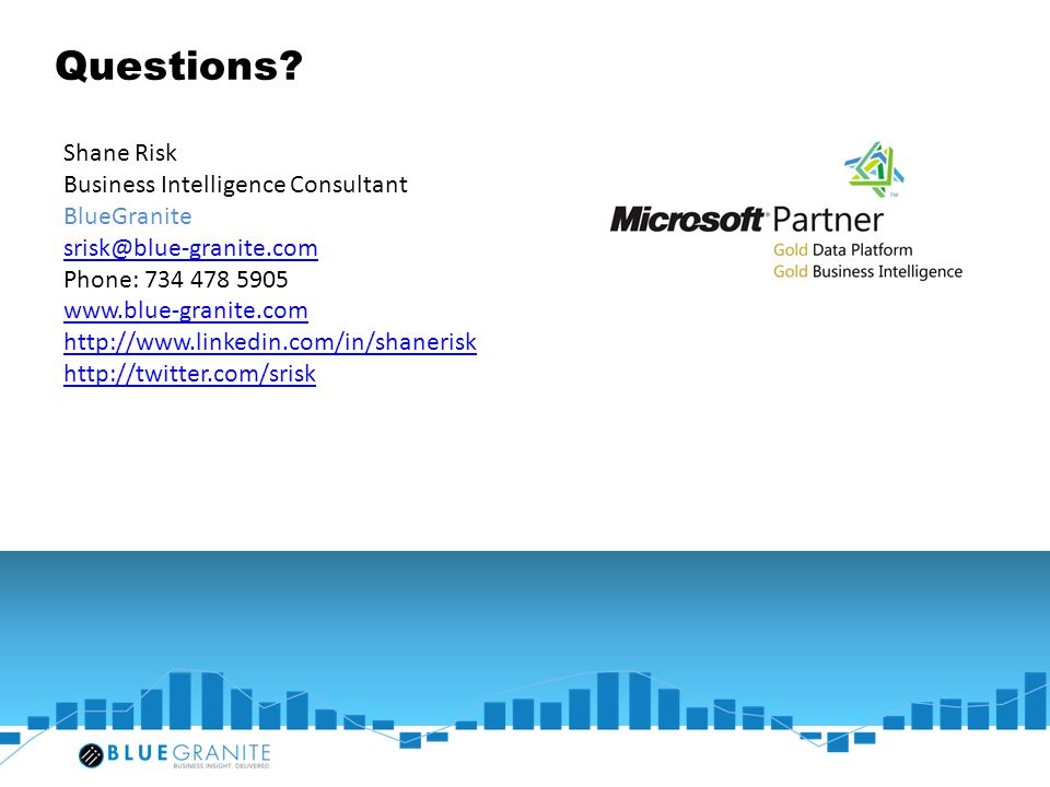 Questions Shane Risk Business Intelligence Consultant