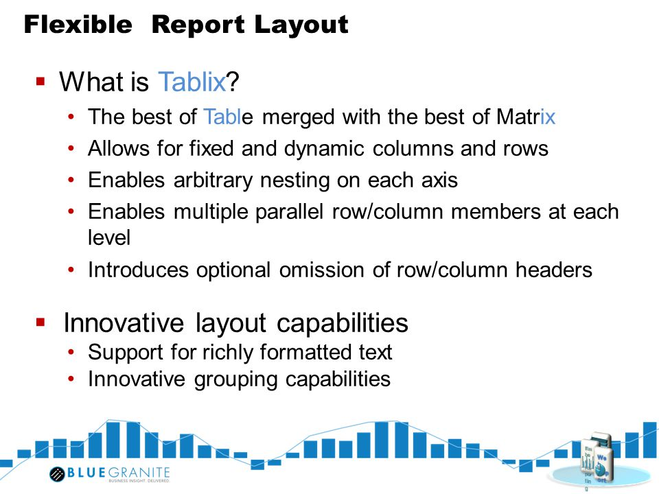 Flexible Report Layout