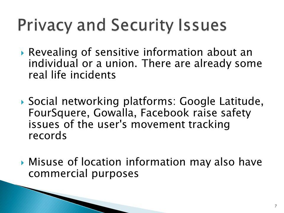 Privacy and Security Issues